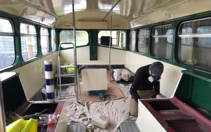 The refurbishment of Albion - 1954 British Leyland coach