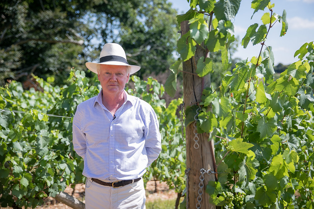 English winemaker Nicholas Coates of Coates & Seely